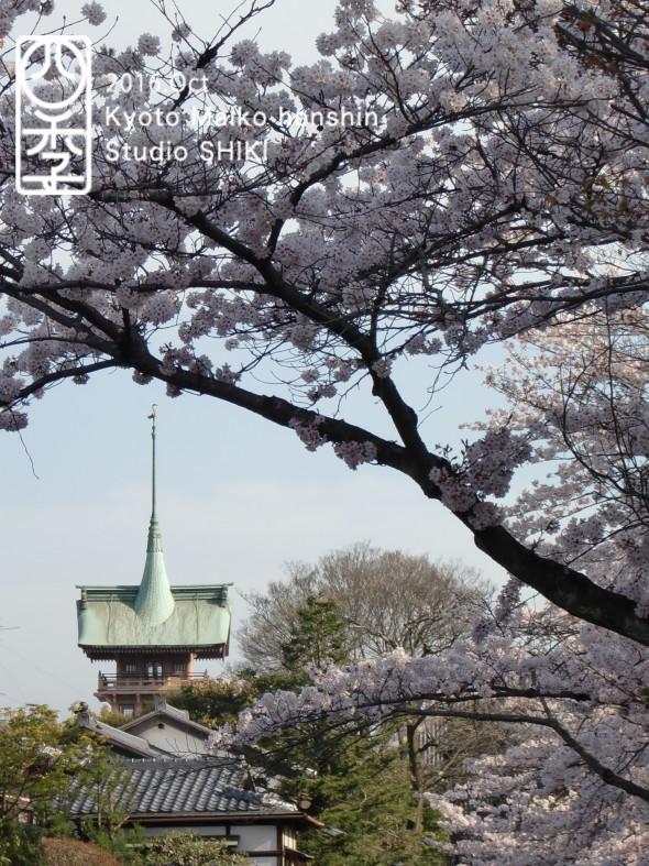 春の銅閣のコピー